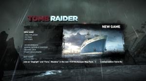 Tomb Raider Start Menu